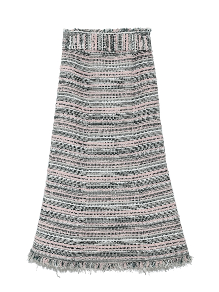ファンシーツイードスカート(GRN-36)