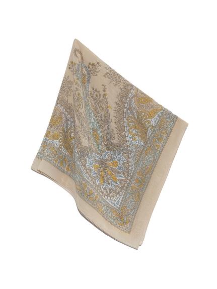 フラワーパネルプリントスカーフ